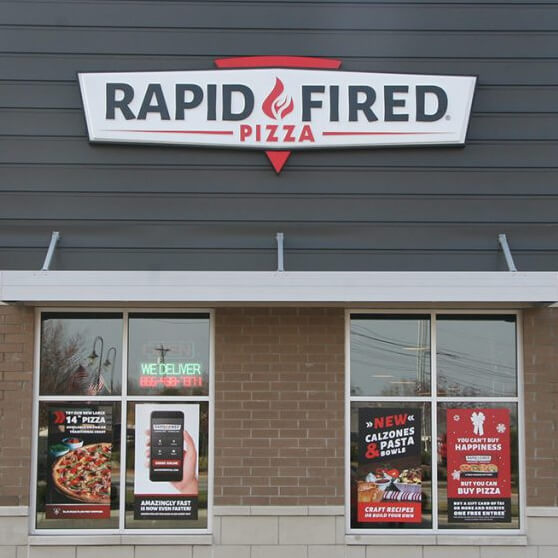Rapid Fired Pizza storefront